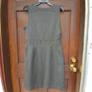 GAP Dresses - Gap sz 8 Grey Sleeveless Twill Work Dress